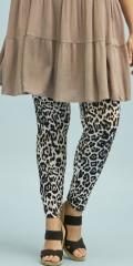 Zhenzi - Leggings med leopard trykk