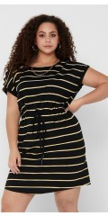 ONLY Carmakoma - Carapril knee dress stripe noos