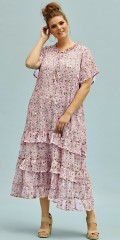 Zhenzi - Kleid mit schön Blumendruck