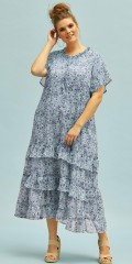 Zhenzi - Kleid in hübsch Blumendruck