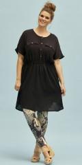 Zhenzi - Lods kjole i crepe viscose