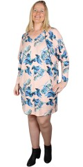 Adia Fashion - Blomstret tunika med vingeærmer