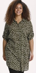 Kaffe Curve - Prikket skjorte tunika