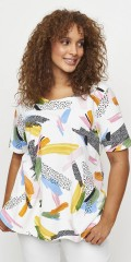 Aprico - Blouse in multi-print