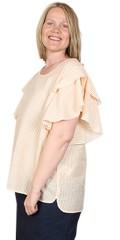 Aprico - Striper genser med rysjer