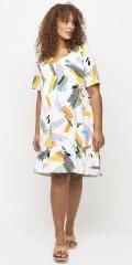 Fresno tunika/kjole med multiprint
