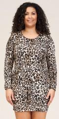 Sandgaard - Amsterdam-slim long t-shirt in leopard