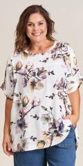Gozzip - Elly blouse i blomsterprint