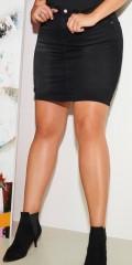 ONLY Carmakoma - Laola black denim skirt