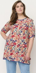 Adia Fashion - Tunika i retro blomsterprint
