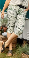 CISO - Capri madelaine slim fit with palmleafs print