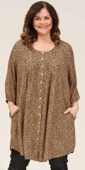 Gozzip - Johanne skjorte tunic med animal trykk