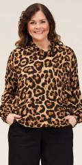 Gozzip - Elisa blouse med animal print