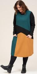 Gozzip - Nikoline dress in blockcolours