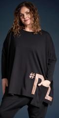 Gozzip - Sille oversize blouse: gozzip black