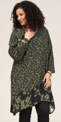Studio Clothing - Jette tunika med gröna lämnar