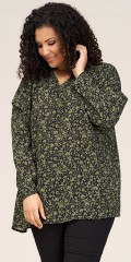 Studio Clothing - Elena bluse med grønne blomster