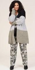 Studio Clothing - Lina long cardigan i blokfarver