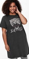 ONLY Carmakoma - Lång t-shirt i økologisk bomull