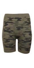 Festival - Camouflage biker shorts