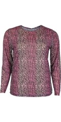 Cassiopeia - Brigitte mesh blus i rosa leopard