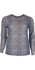 Cassiopeia - Brigitte mesh blus i blå leopard