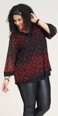 Studio Clothing - Paula blouse red roses