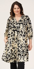Gozzip - Jenny shirt tunica with gold print