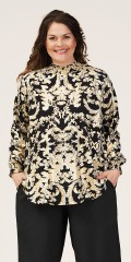 Gozzip - Nicoline blouse with gold print