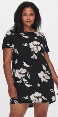 ONLY Carmakoma - Svart klänning med blommor