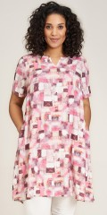 Studio Clothing - Bigitte dress in pink diamonds