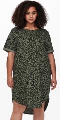 ONLY Carmakoma - Kaylee kjole med animal trykk