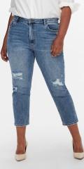 ONLY Carmakoma - Mily mom ankel jeans med slitt hw
