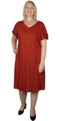 ONLY Carmakoma - Gila klänning med lag på lag ärmar