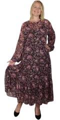 Zhenzi - Chiffon klänning med blomster print
