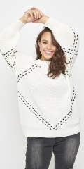 Adia Fashion - Cotton knit pullover with tie
