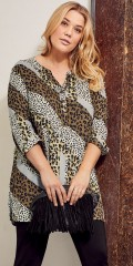 CISO - Patchwork tunica in animal print