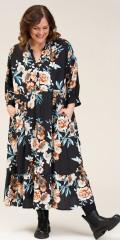 Gozzip - Vicktoria maxi dress with floral print