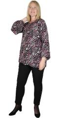 Zhenzi - Novah blouse i animal trykk