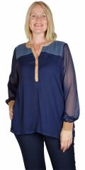 Zhenzi - Allie blouse i blokfarver