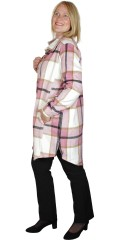 Cassiopeia - Denizette lång tröja jacka i ruta