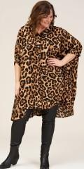 Gerda oversize shirt tunic i animal tryck