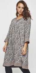 Adia Fashion - Dress with graphic floral print