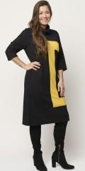 Sempre piu - Enrika dress with yellow detail