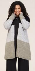 Studio Clothing - Lina lang Cardigan in blokfarben