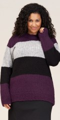 Studio Clothing - Lina strik sweater i blokfarver