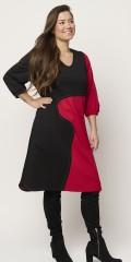 Sempre piu - Exclusive dress black/red