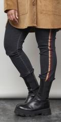 Aprico - Texas jeans med stripe
