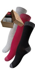 Festival - Gift box with 3 par bamboo stockings