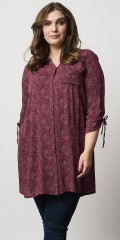Adia Fashion - Hulda shirt tunica with dots